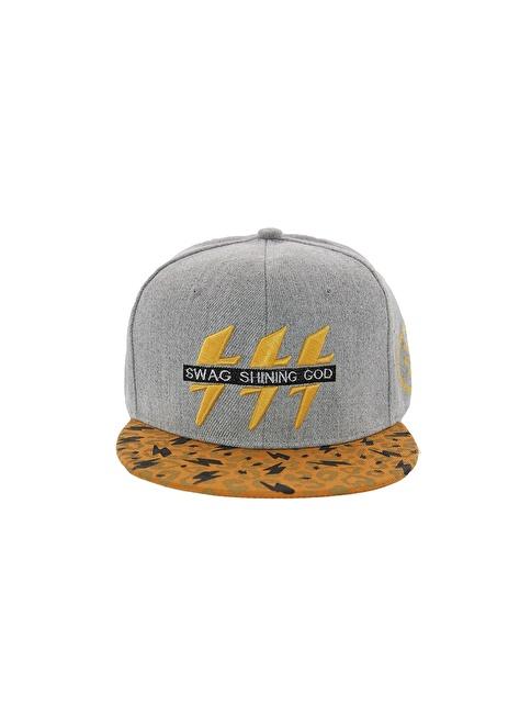 Laslusa Swag Shinning Hip Hop Snapback Şapka Gri